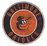 "MLB Baltimore Orioles 12"" Circle with State and Team Logo Wood Sign"