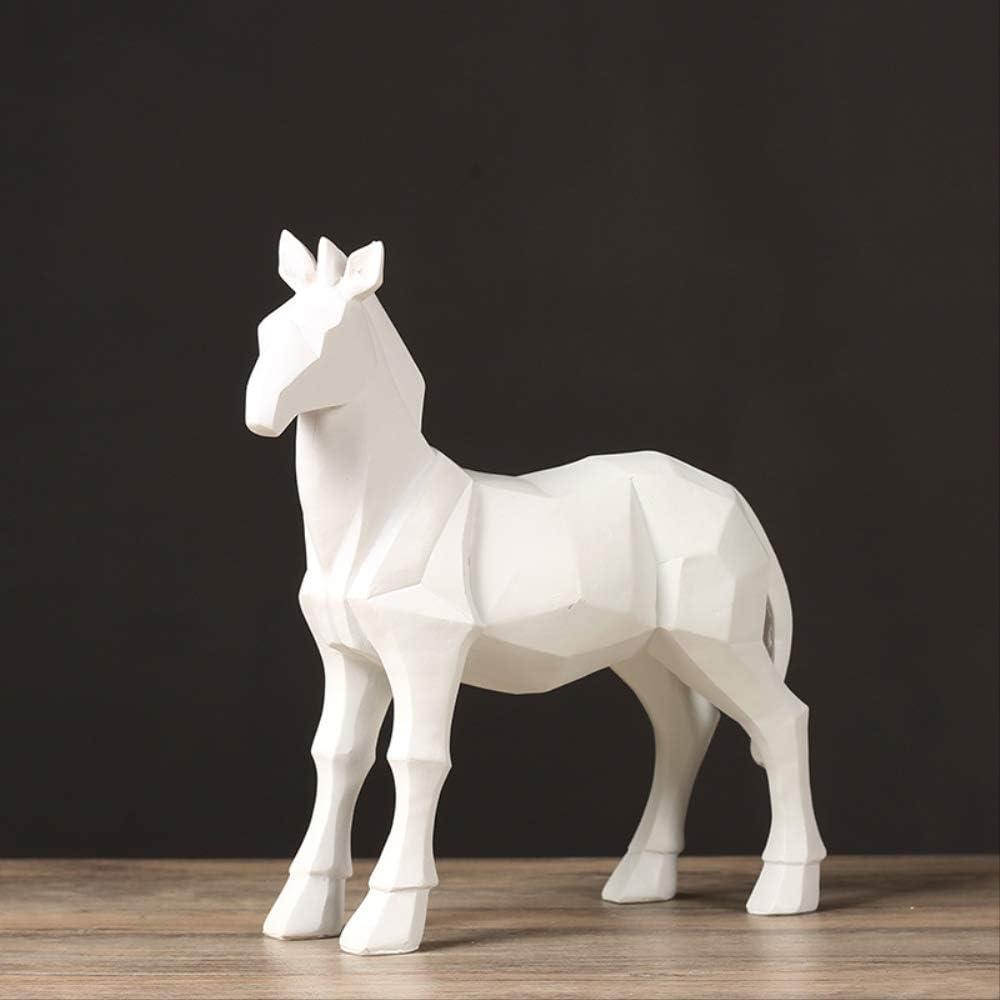 WGLG Nordic Minimalista Caballo Adornos para la casa Creativo Salón Mueble TV Armario Vino Decoración Origami Caballo Geométrico Decoración