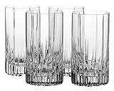 Mikasa Arctic Lights Crystal Highball Glass, 12.5-Ounce, Set of 4