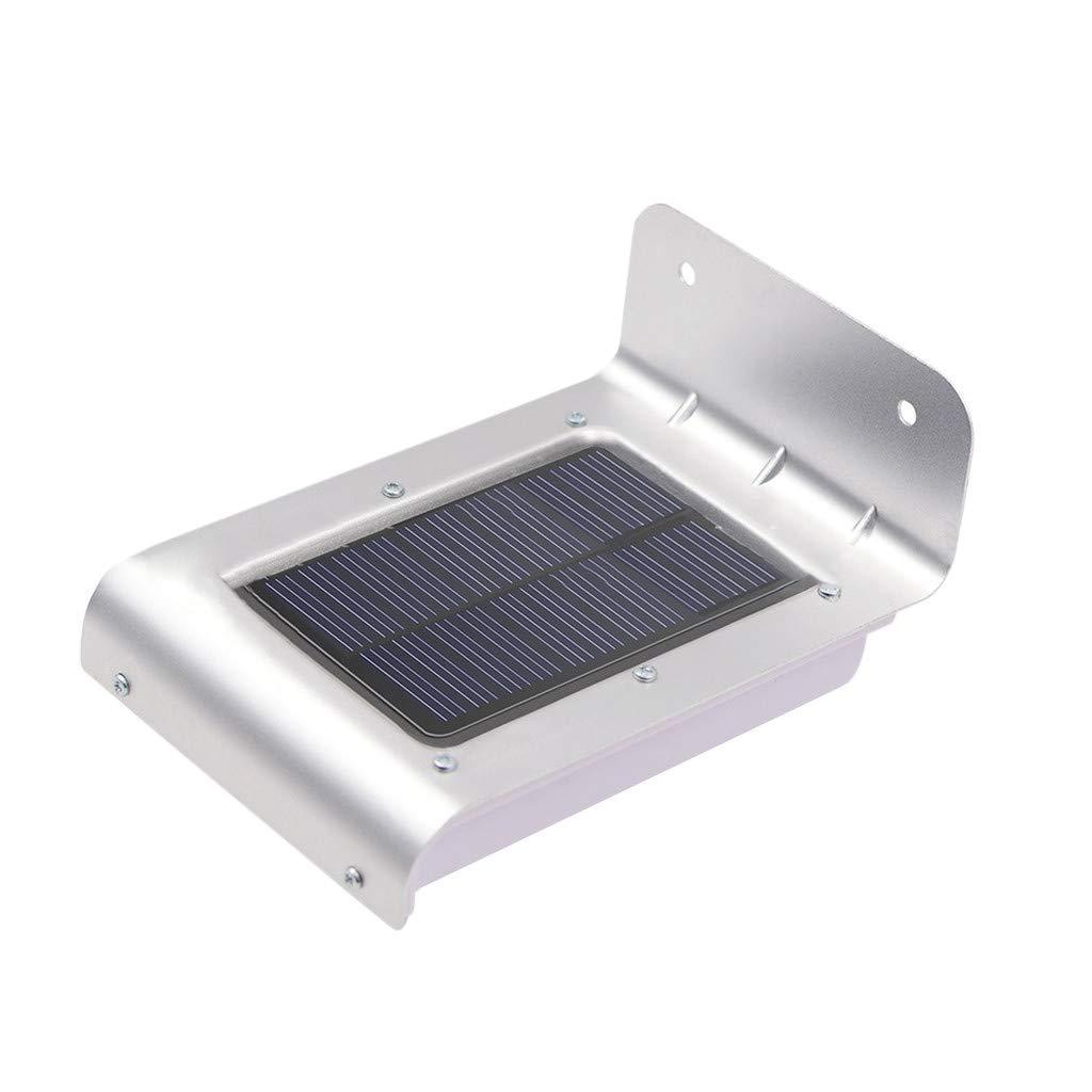 LED Light Bulb 16 Solar Power Motion Sensor Garden Security Lamp Outdoor Waterproof