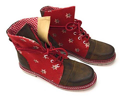 Rot Trachtenstiefel Damen Spieth amp;Wensky Boots fnvSn