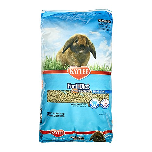 Kaytee Forti Diet Pro Health Rabbit Food For Adult Rabbit, 10-Pound (50 Lb Bag Of Guinea Pig Food)