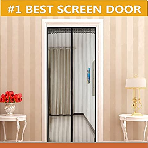 Magnetic Screen Door Magic Mesh Curtain with Anti-mosquito Fits Door up to 34x83 MAX (First Up Screen Curtain)