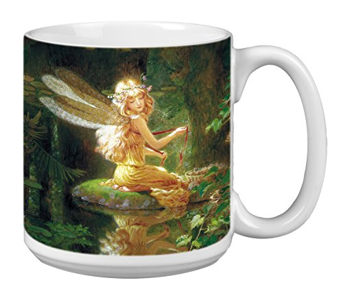Fairy Extra Large Mug, 20-Ounce Jumbo Ceramic Coffee Cup Faery Reflection Themed Fantasy Art, Gift for Lovers of Fairies (XM29497) Tree-Free Greetings