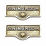 Switchplate Polished/Lacquered Brass DINING Room Switch Tag Brass 1 11