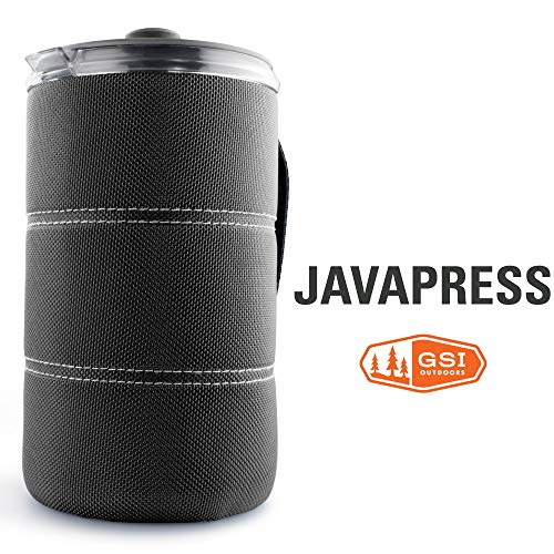 GSI Outdoors - 30 Fl Oz JavaPress, Graphite, Superior Backcountry Cookware Since 1985 - Press Pot Coffee