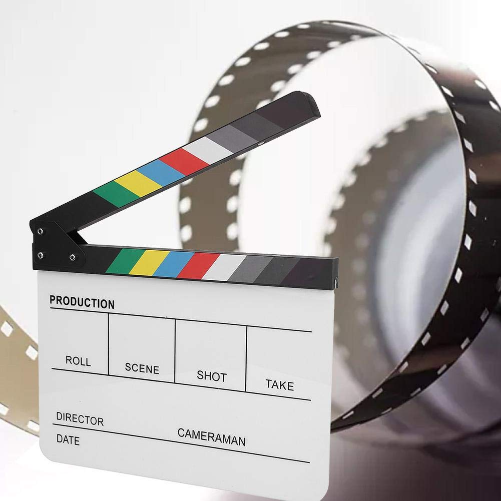 Amazon.com: Clapperboard, Acrylic Plastic Colorful Director ...