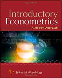 introductory econometrics wooldridge This book introduces the software package r for econometrics it is designed to be highly compatible with jeffrey wooldridge's 'introductory econometrics.
