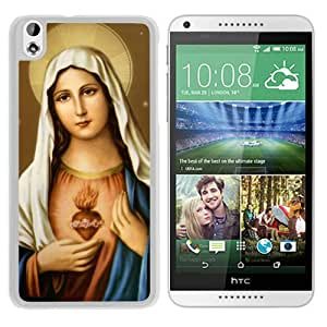 Personalized Virgin Mary 1 White Special Custom Made HTC Desire 816 Cover Case