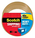 3M 3501T Scotch Tan Packaging Tape 48mm by 50 m, 1-Pack