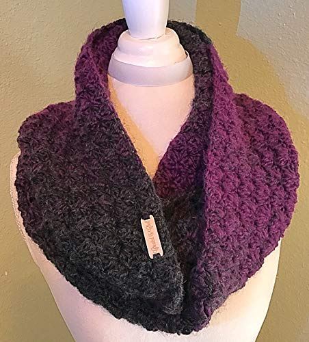 Diagonal Block Crochet Infinity Scarf