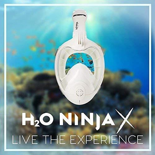 Ninja H2O X Easy Breath Máscara de Snorkel de Cara Completa ...