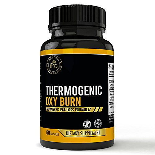 iPro Organic Supplements Oxy Burn 60 Capsules Fat Burner for Women, CLA Thermogenic Diet Pills, Fast Weight Loss, Lose Belly & Waist, Pure Carb Block, Appetite Suppressant, Natural Dietary Veggie Caps by iPro Organic Supplements
