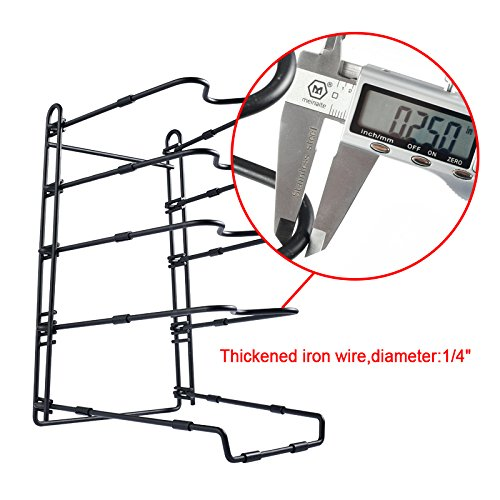 SHMEIQI Heavy Duty Pan Pot Lid Organizer Rack Holder Cabinet, Pantry, Countertop, Cupboard - Adjustable Compartments by SHMEIQI (Image #1)