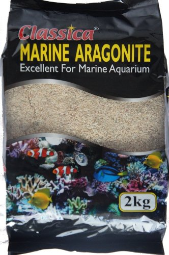 Classica 2kg 3mm Corail Sable Marine Océan récif Substrat d'Aragonite pour Aquarium Gravier de cichlidés Malawi Sands