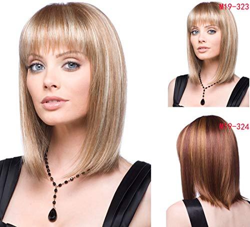 Wigood 12 inch Short Wig Golden Straight Heat