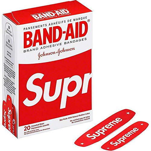Supreme x Band Aid Adhesive Bandages (Box of 20) Red SS19 Brand New 100% Authentic Real SUPREMENEWYORK Designer Rare by SupremeNewYork