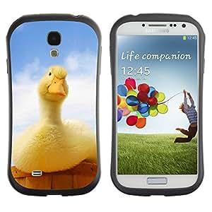 "Hypernova Slim Fit Dual Barniz Protector Caso Case Funda Para SAMSUNG Galaxy S4 IV / i9500 / i9515 / i9505G / SGH-i337 [Pato Amarillo Azul Granja País Patito""]"