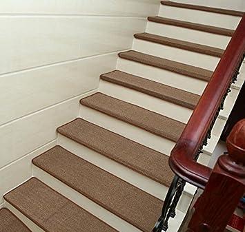 Peldaños de las escaleras, skid-resistant Gel de sílice respaldo, antideslizante interior protectores de escalera, modern paso escalera alfombrillas para suelo duro (10 piezas): Amazon.es: Bricolaje y herramientas