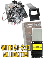 Capital Vending Control Board Update Kit For Rowe Model BC20 25 25MC With A Refurbished Mars AE2681 Or AE2881 Dollar Bill Acceptor Offers Four Way Acceptance Of 1 20