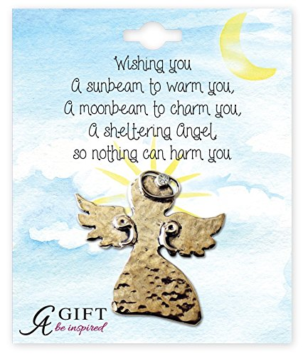 Cathedral Art BA316G April/Crystal Birthstone Angel Pin, 1-1/2-Inch