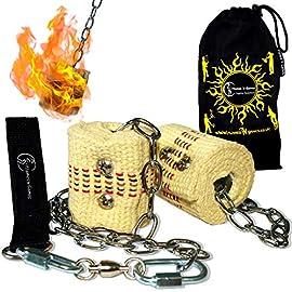 100mm Wicks Juggling Devil sticks for Beginners /& Pros alike! Ultra-Strong FIBRE Sticks Flames N Games FIRE Devil Stick Set Travel Bag