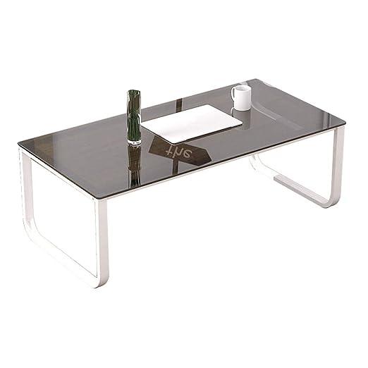 Xu-table Mesa de Cristal para Sala de Estar, Mesa Cuadrada para ...