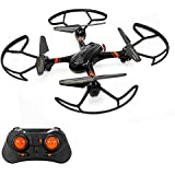 Mini RC Helicopter, Mould King Super-F Remote Control Quadcopter Drone 4CH 2.4GHz 6-Axis Mini Drone RTF with Headless Mode LED Flashing (Black)