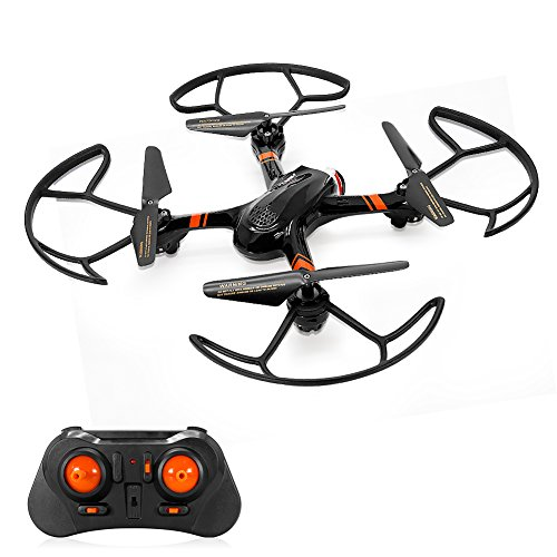 Mini RC Helicopter, Mould King Super-F Remote Control Quadcopter Drone 4CH 2.4GHz 6-Axis Mini Drone RTF with Headless Mode LED Flashing (Black) ()