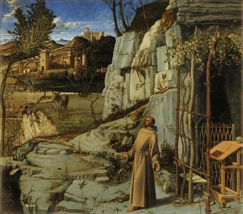 Oil Painting 'Giovanni Bellini-St. Francis In The Desert ,15th Century' 30 x 34 inch / 76 x 87 cm , on High Definition HD canvas prints is for Gifts And Gym, Kitchen And Living Room Decoration, diy
