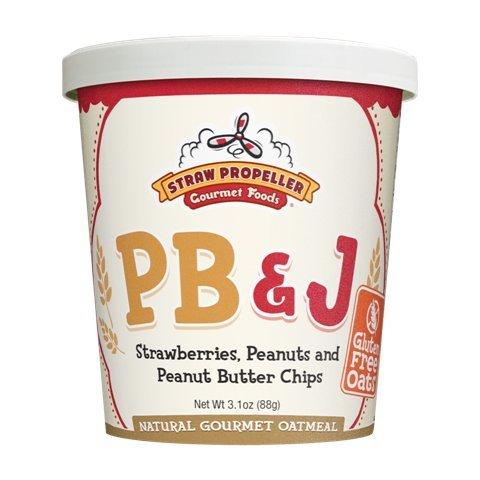 Straw Propeller Gourmet Foods 3 1 Oz  Pb   J Hot Oatmeal  Case Pack 12