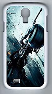 Batman Motorcycle PC Case Cover for Samsung Galaxy S4 I9500 White