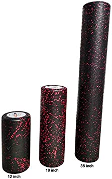 USA Foam Roller with 3 Year Warranty Extra Firm High Density Foam Rollers for Exercise Available in 36 inch 18 inch 12 inch Choose Color