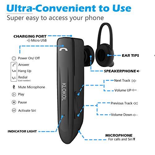 YW YUWISS Bluetooth Headset 28Hrs Playtime Wireless Bluetooth V4 2