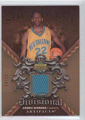 Cedric Simmons #24/25 (Basketball Card) 2007-08 Upper Deck Artifacts - Divisional Artifacts - Copper #DA-CS