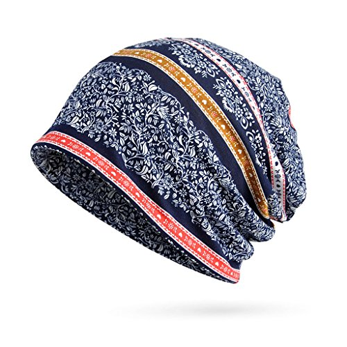 662521eb8af Linlin Women s Baggy Slouchy Beanie Chemo Hat Scarf Pregnant Woman s Month  Cap Warm Hat Sapphire Blue