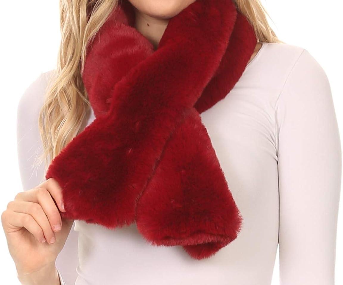 Sakkas Kiy escapatoria de piel sintética de larga caliente suave textura confortable arco bufanda