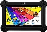 KOCASO [7 INCH] Quad Core Android 4.4 KitKat Kids HD Tablet PC- 8GB Storage W/ 32GB Expandable Memory, 1GB RAM, 1024x600, Dual Camera, WiFi/Bluetooth, Micro USB/SD Card Slot/FREE ACCESSORIES- Black