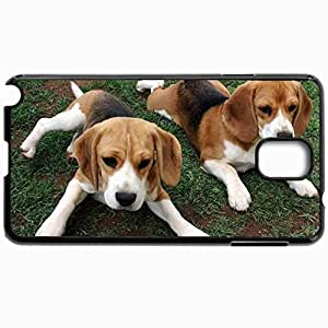Customized Cellphone Case Back Cover For Samsung Galaxy Note 3, Protective Hardshell Case Personalized Beagle Puppies 21406 Black