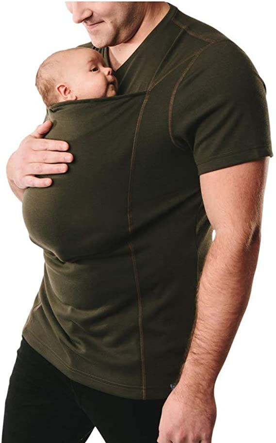 Pavilion Hands-Free Skin-to-Skin Baby Carrier Kangaroo Care T-Shirt Mom Dad Bonding With Baby Size : M