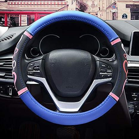 HONCENMAX Donne Veicolo Coprivolante Auto Protezione del Volante Fashion 15 Universale per Auto//Camion//SUV Diametro 38 cm