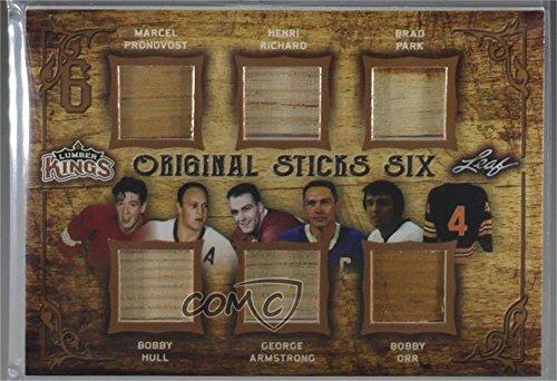 - Marcel Pronovost; Bobby Hull; Henri Richard; George Armstrong; Brad Park; Bobby Orr #4/15 (Hockey Card) 2016-17 Leaf Lumber Kings - Original Sticks Six - Bronze #OSS-04