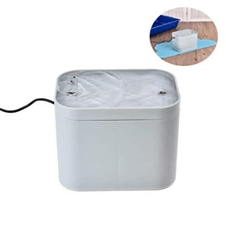 AUTOECHO Fuente de Agua Potable del Perro del Gato de con la Estera Impermeable - Fuente