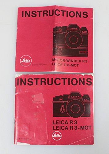 LEICA R3 / R3 MOT & MOTOR WINDER INSTRUCTIONS, SET OF 2