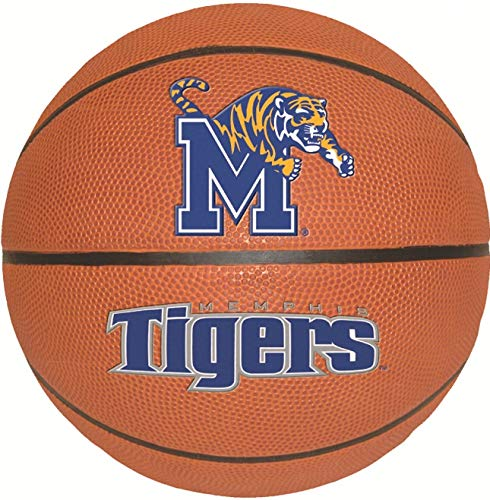 8 Inch UM Tigers Logo Basketball Decal University of Memphis Tiger Removable Wall Sticker Art NCAA Home Room Decor 8 by 8 Inches