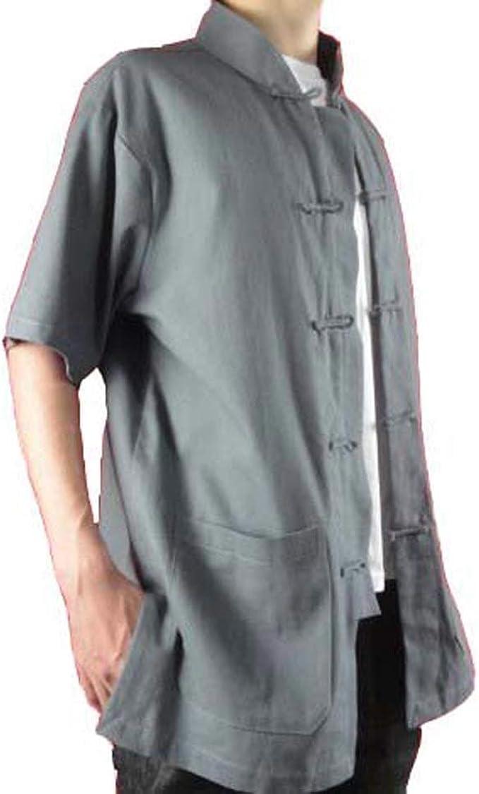 Fino Lino Gris Camiseta de Kung Fu Artes Marciales Tai Chi XS-XL o Hecho a Medida #112: Amazon.es: Ropa y accesorios