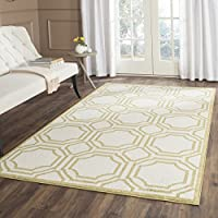 Safavieh Amherst Collection AMT411A Ivory and Light Green Indoor/ Outdoor Area Rug (9 x 12)