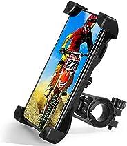 TBONEEY Soporte Celular Bicicleta, Soporte Movil Moto Universal 360°Rotación Anti Vibración Porta Telefono Mot