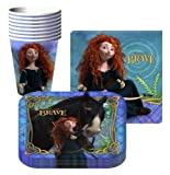Disney Pixar Brave Party Supplies Pack Including Plates, Cups and Napkins - 8 Guests