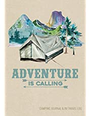 Camping Journal & RV Travel Logbook, Adventure Is Calling Tent